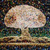 serie Detonaciones, 2015 / Acrílico sobre lienzo / 42 x 60 cm