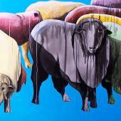 serie El Rebaño. Orgullo, 2013. Acrílico sobre lienzo / 77 x 84 cm