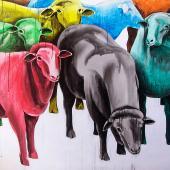serie El Rebaño. Verguenza, 2013. Acrílico sobre lienzo / 100 x 110 cm