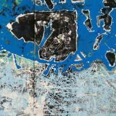 Costa Azul, 2012 / Acrílico sobre lienzo / 50 x 50 cm